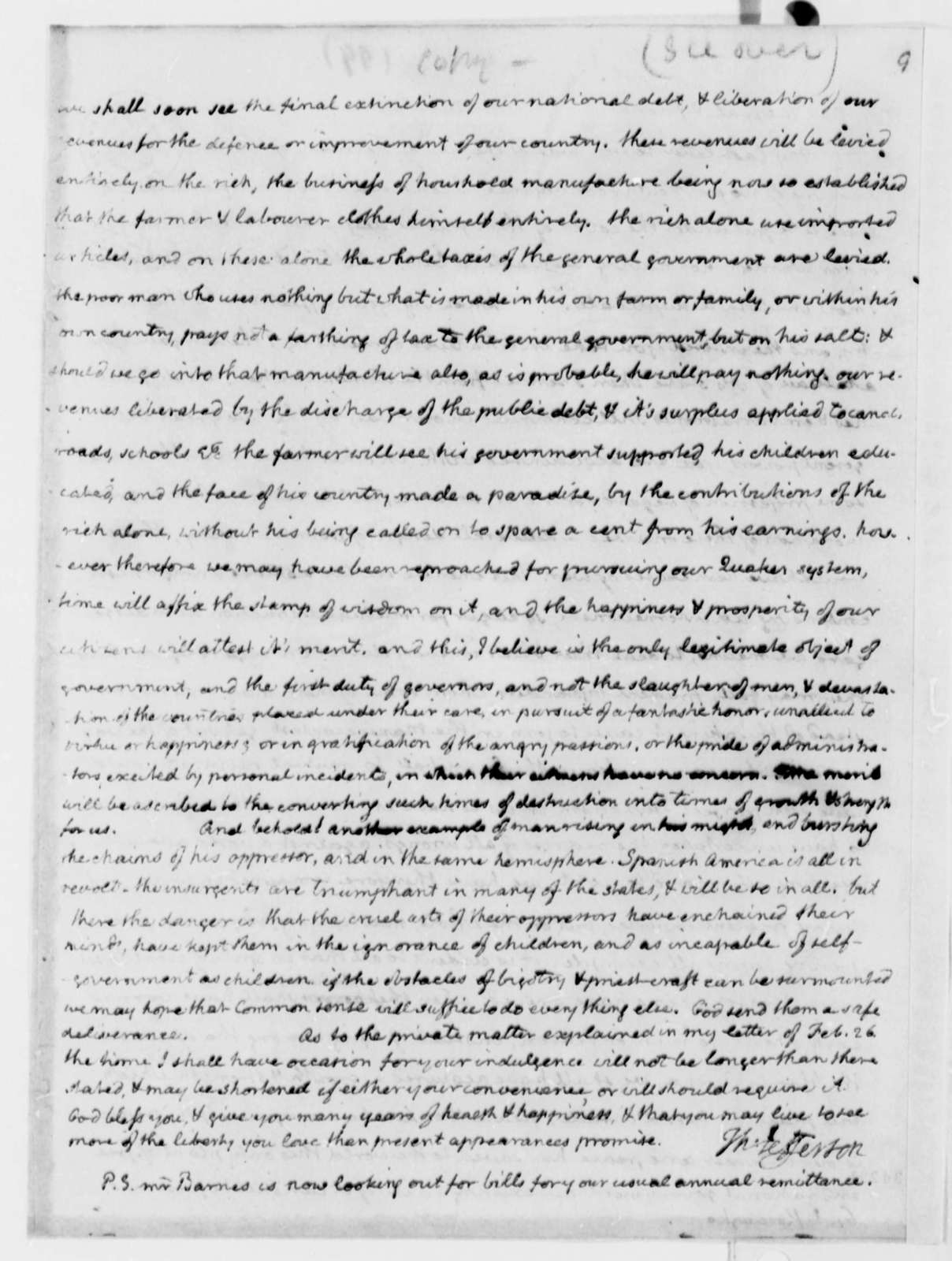Thomas Jefferson to Thaddeus Kosciuszko, April 16, 1811