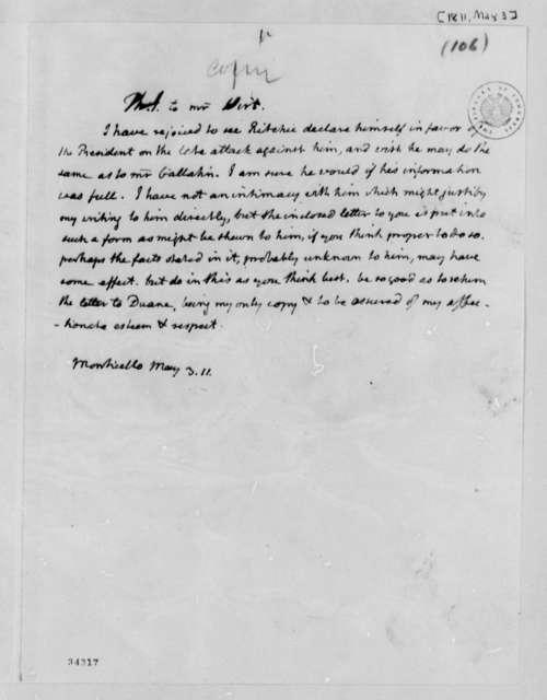 Thomas Jefferson to William Wirt, May 3, 1811