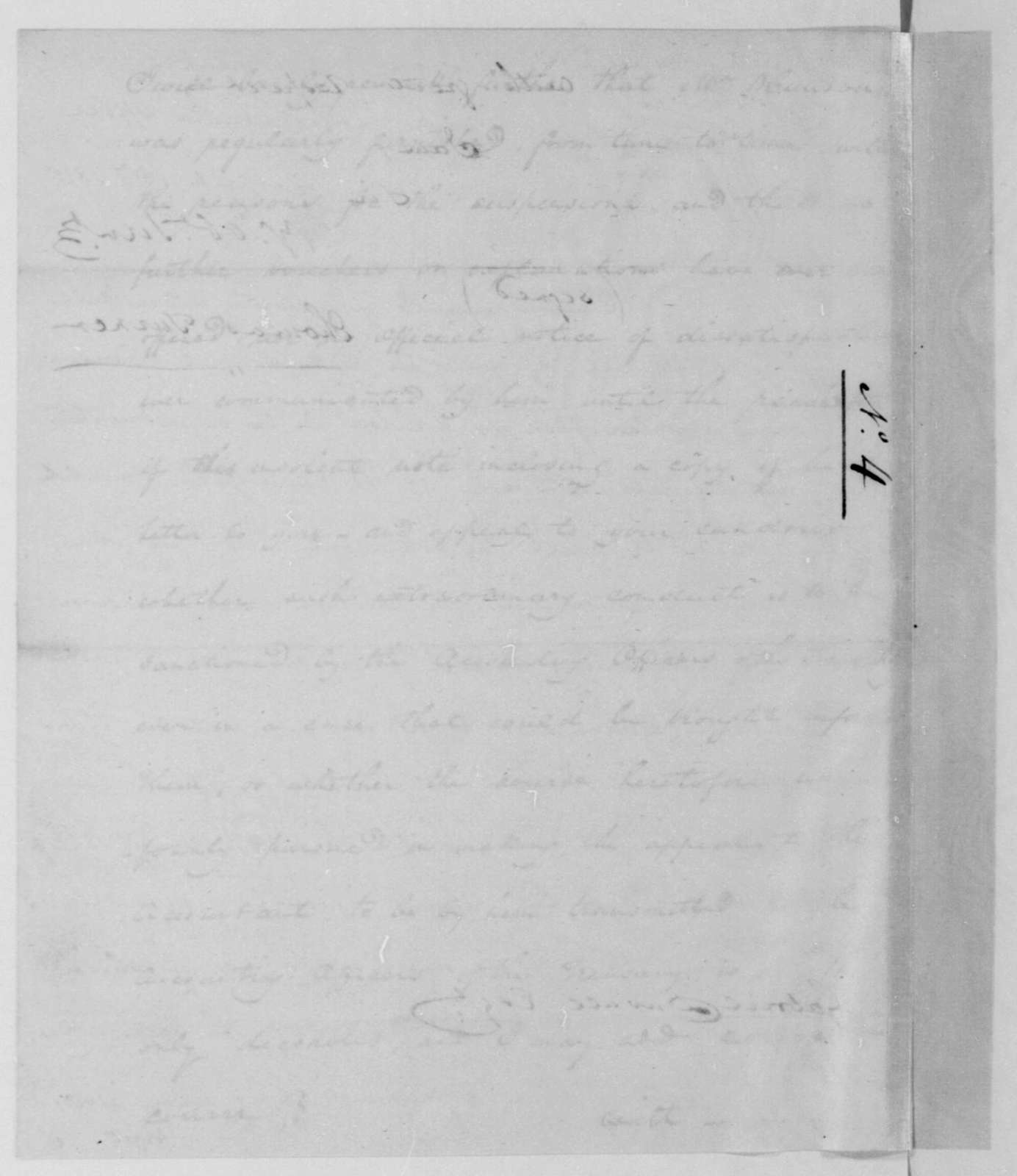 Thomas Turner to Gabriel Duvall, April 15, 1811.