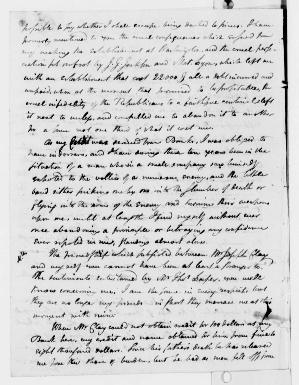William Duane to Thomas Jefferson, March 15, 1811, with Extract Copy