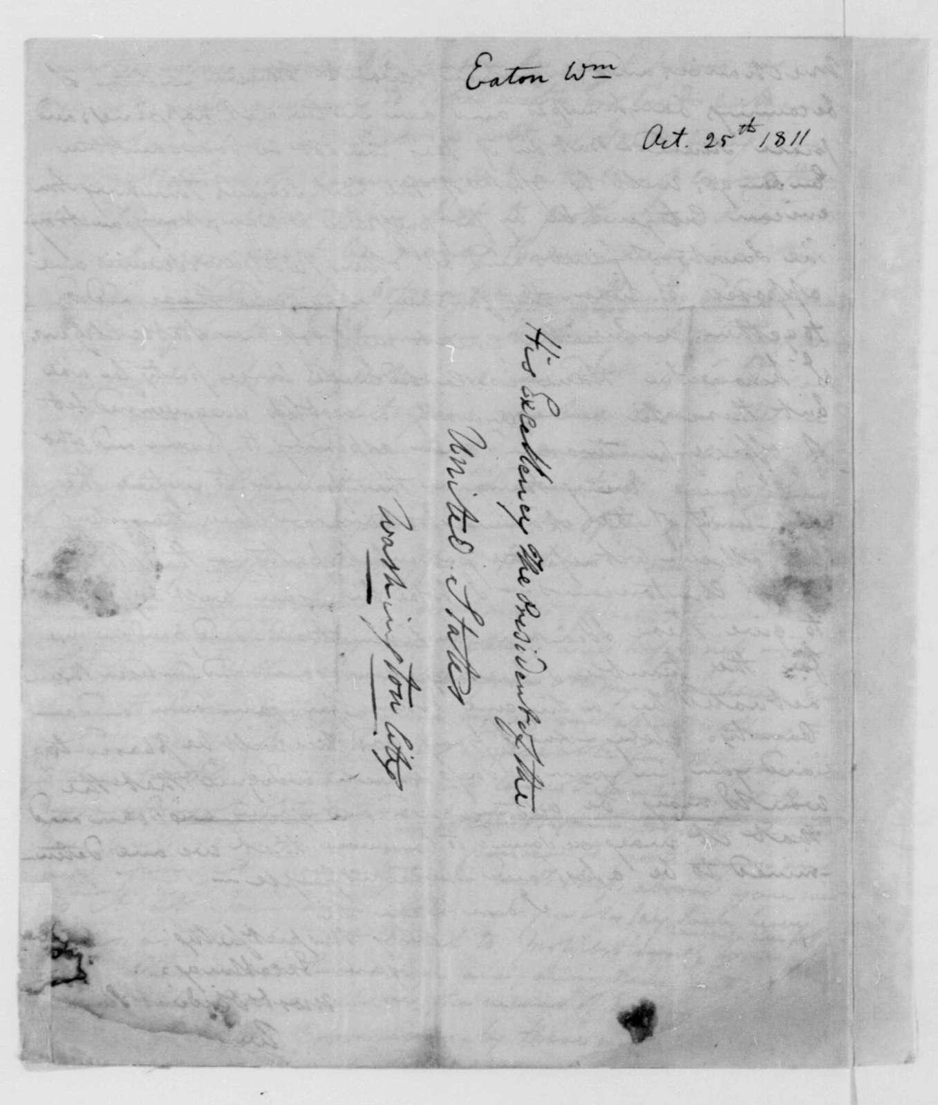 William Eaton to James Madison, October 25, 1811.