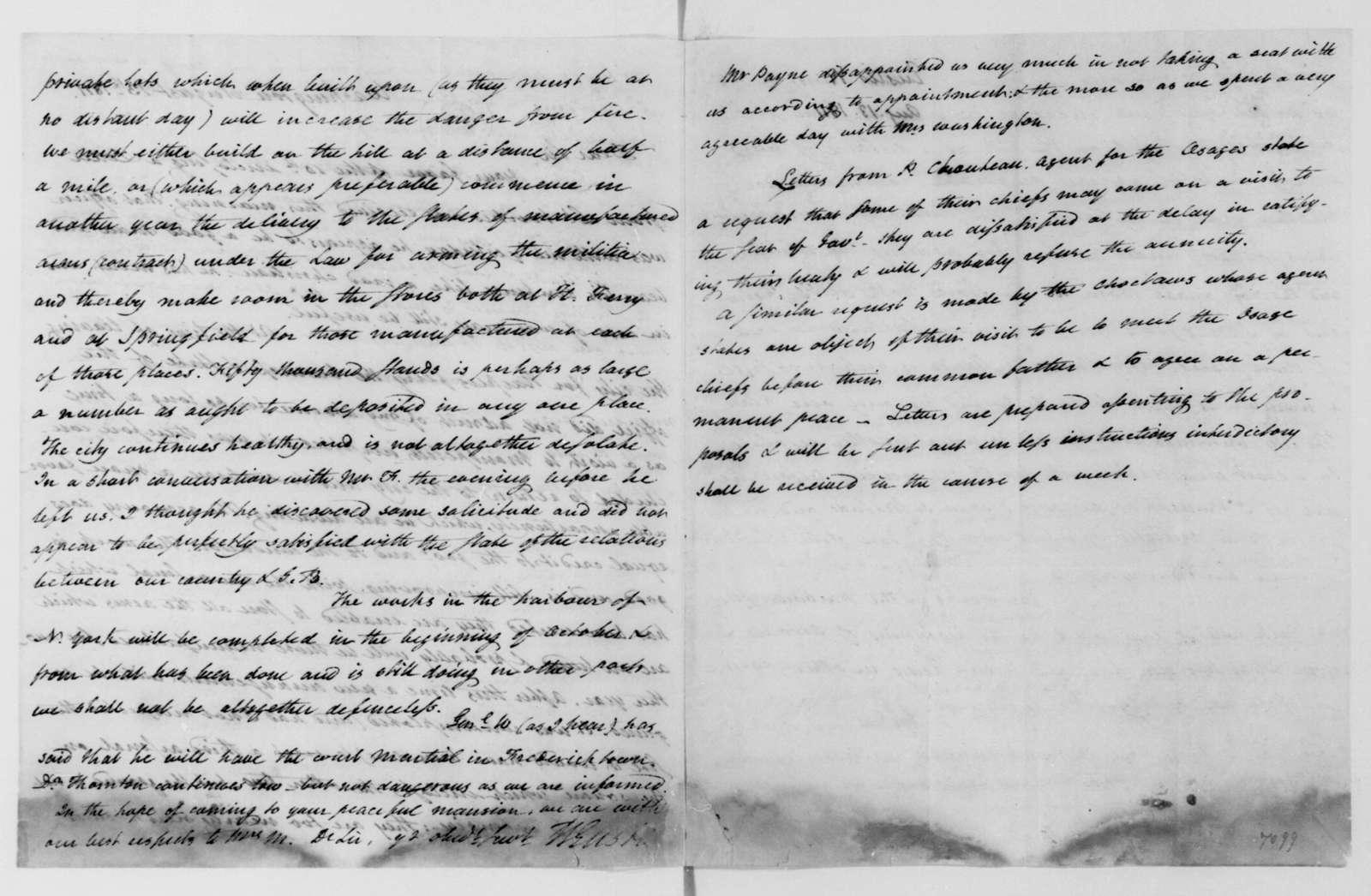 William Eustis to James Madison, August 13, 1811.