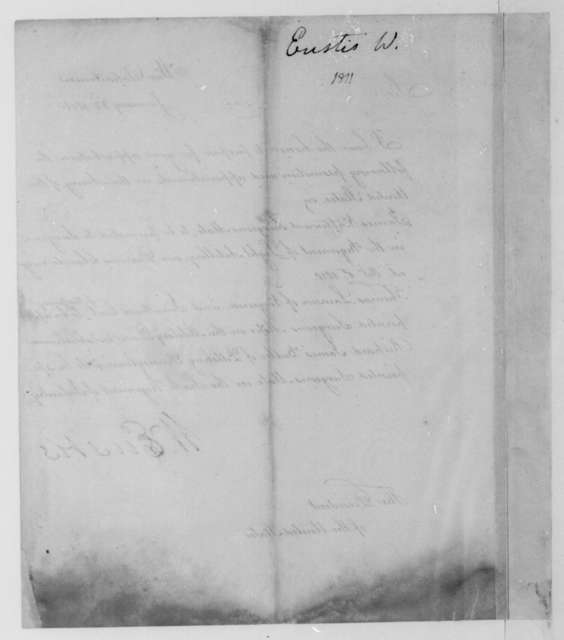 William Eustis to James Madison, January 22, 1811. Includes a list of promotions and appoinments the Army of the United States.
