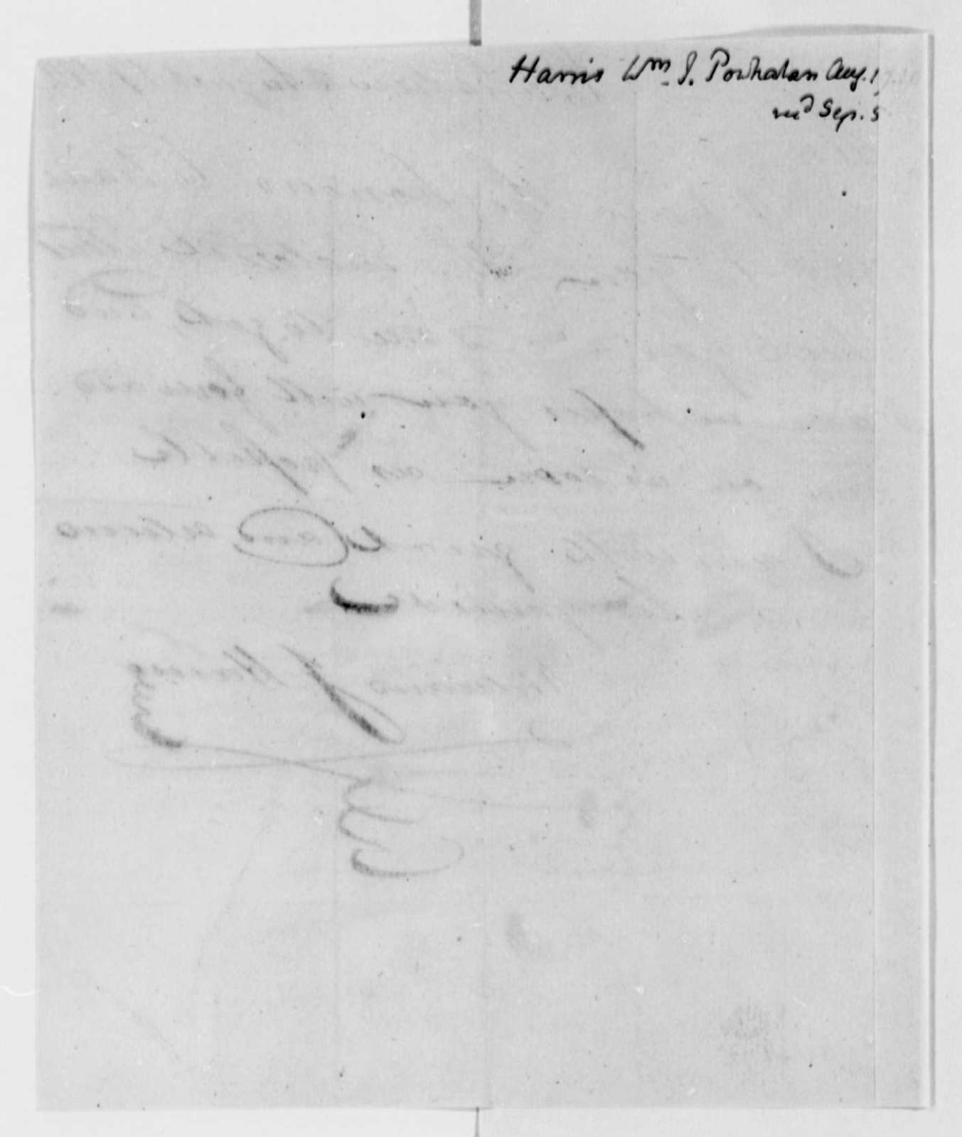 William J. Harris to Thomas Jefferson, August 19, 1811
