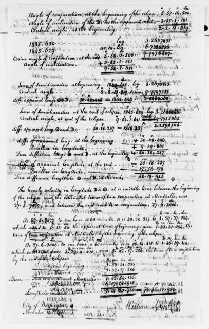 William Lambert to Thomas Jefferson, November 14, 1811, with Abstract