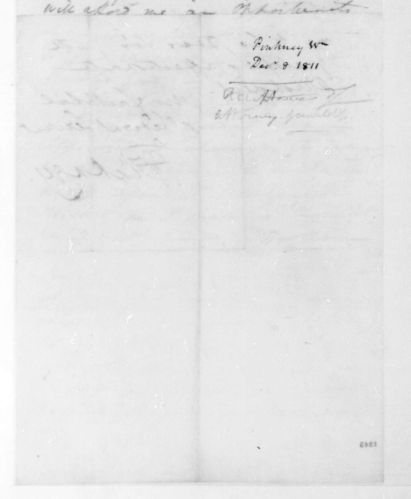 William Pinkney to James Madison, December 8, 1811.