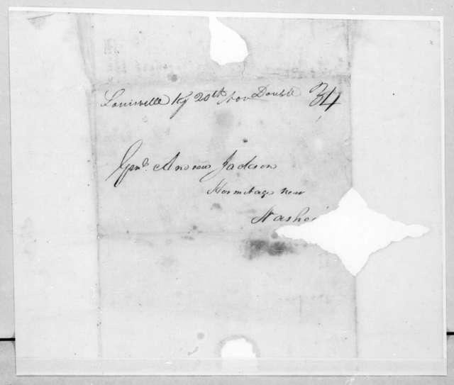 William Preston Anderson to Andrew Jackson, November 16, 1811