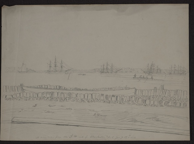 A view taken from the S.W. end of Charleston, S.C. Jany 17th 1812