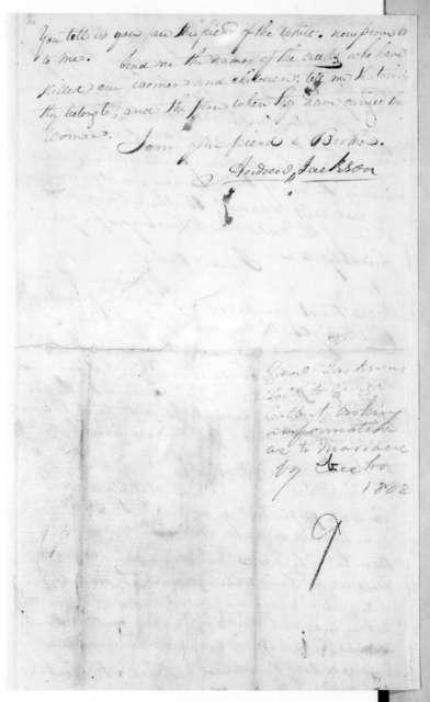Andrew Jackson to George Colbert, June 5, 1812