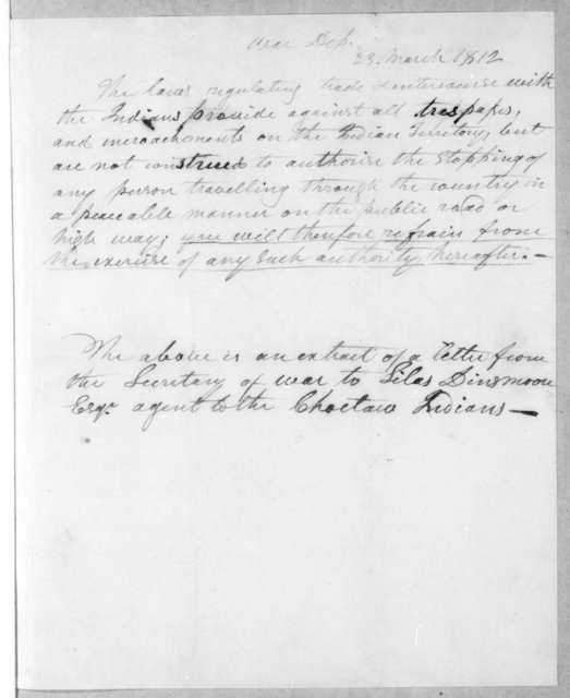 Andrew Jackson to George Washington Campbell, April 10, 1812