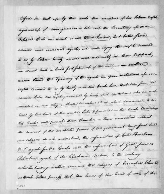 Andrew Jackson to George Washington Campbell, October 15, 1812