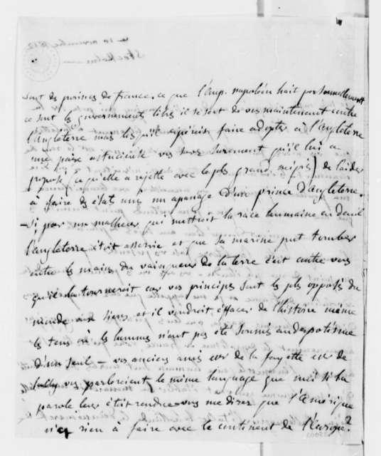 Anne L. G. N. Stael-Holstein to Thomas Jefferson, November 10, 1812