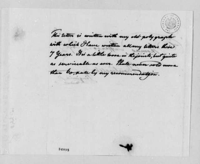 Benjamin H. Latrobe to Thomas Jefferson, July 2, 1812