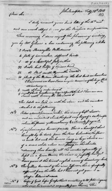 Bernard McMahon to Thomas Jefferson, February 28, 1812