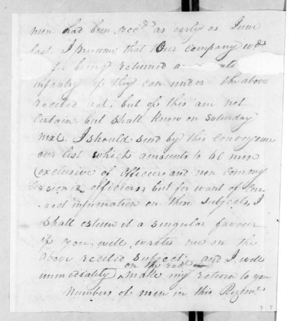 Brice Martin to Andrew Jackson, October 7, 1812