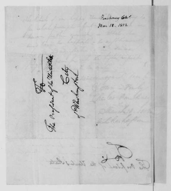 Charles Pinckney to James Madison, March 18, 1812.