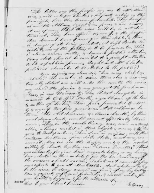 Elbridge Gerry to Thomas Jefferson, August 15, 1812
