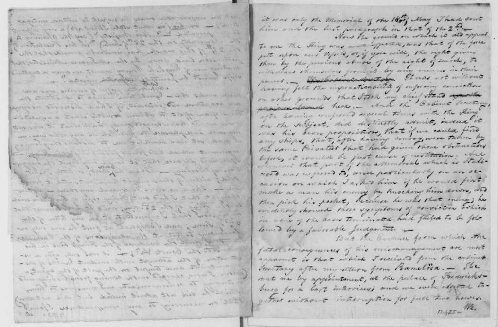 George Joy to John Quincy Adams, May 8, 1812.