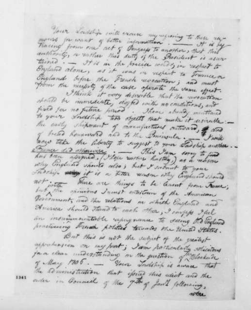 George Joy to Lord Sidmouth, June 22, 1812.