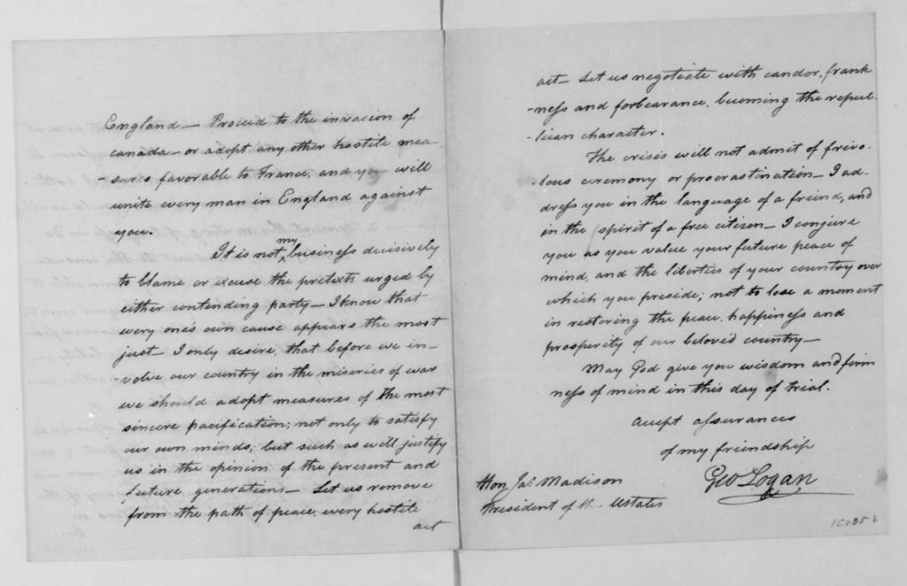 George Logan to James Madison, March 31, 1812.