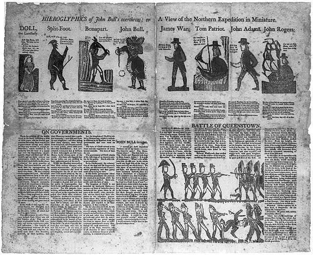 Heiroglypics of John Bull's overthrow
