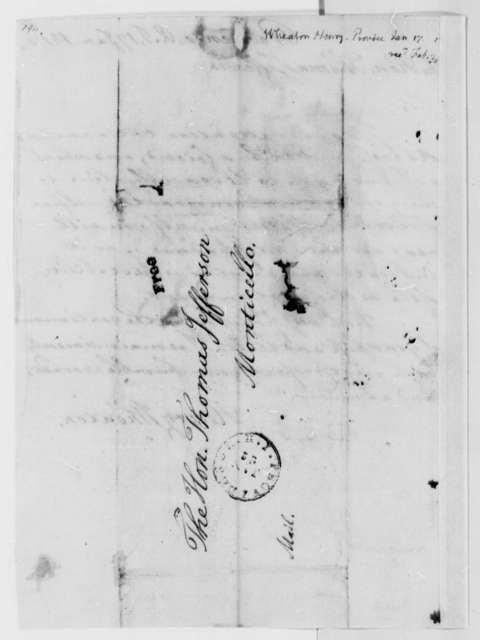 Henry Wheaton to Thomas Jefferson, January 17, 1812