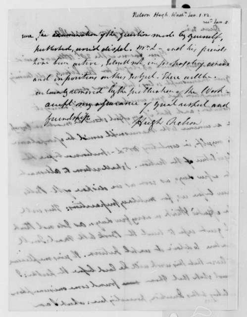 Hugh Nelson to Thomas Jefferson, January 1, 1812
