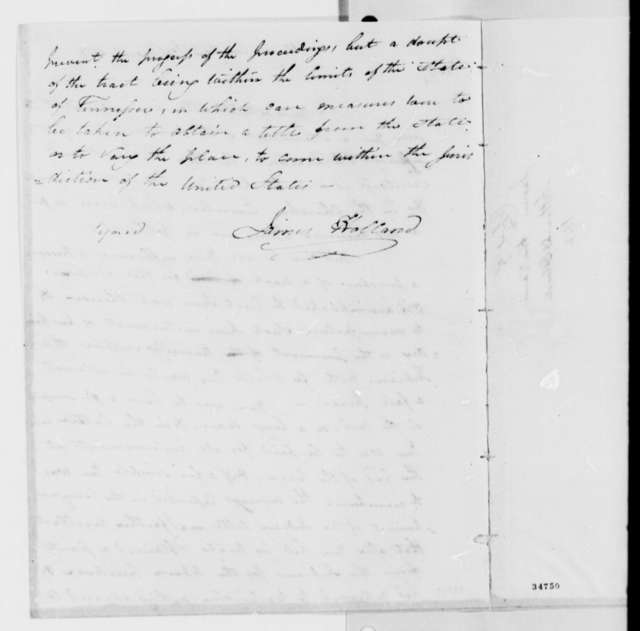 James Holland to Elias Earle, March 28, 1812