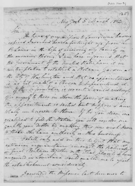 John Bradbury to Thomas Jefferson, March 5, 1812