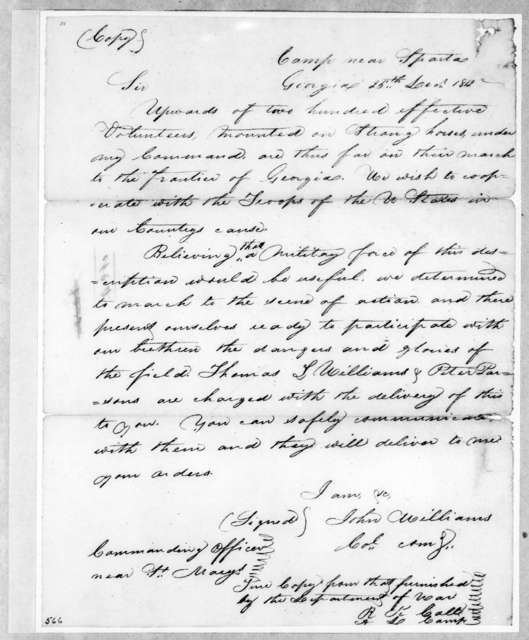 John Williams to Andrew Jackson, December 25, 1812