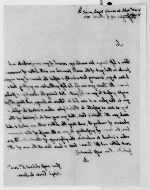 Jose Correa da Serra to Thomas Jefferson, March 6, 1812
