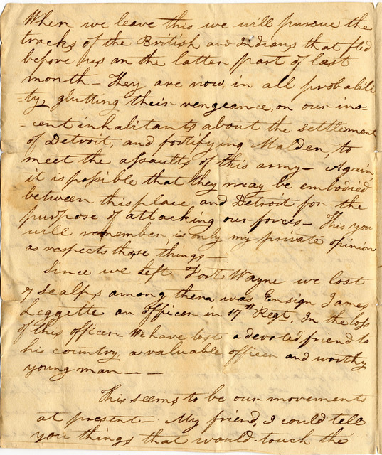 Letter from Levi Wells to Isaac Gwathmey