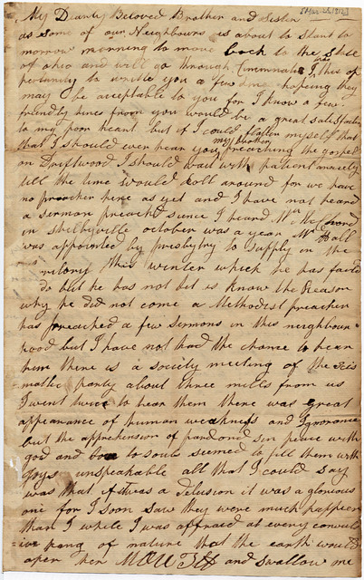 Letter from Polly Wilson McGee to Joshua Lacy Wilson