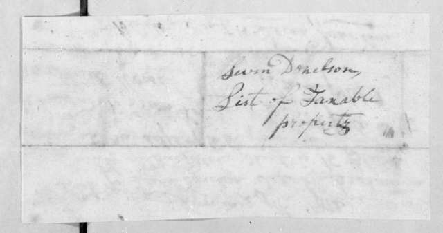 Leven Donelson, January 9, 1812