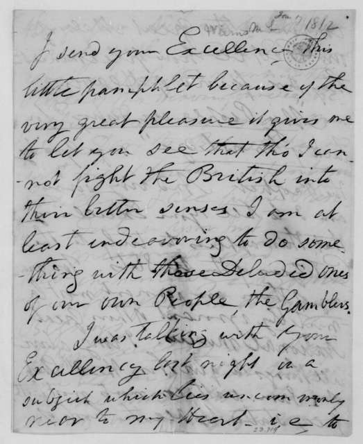 M. Weems to James Madison, January 17, 1812.