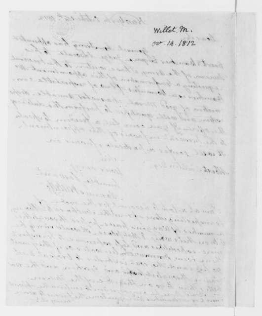 Marinus Willett to Albert Gallatin, October 14, 1812.