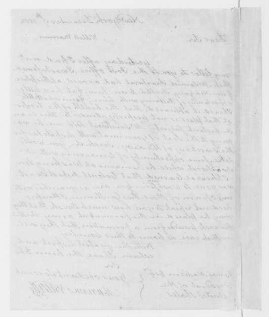 Marinus Willett to James Madison, December 17, 1812.