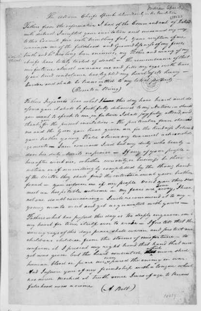 Ottawa Indian Chiefs-Friendship  Speech  1812    PICRYL