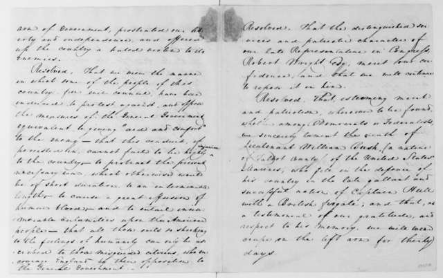Perry Benson to James Madison, September 8, 1812. Resolutions passed by Talbot County Maryland Democrats.