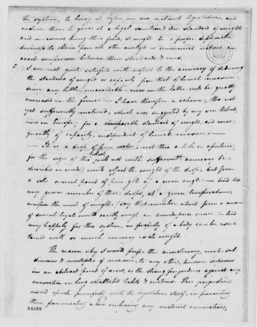 Robert Patterson to Thomas Jefferson, January 10, 1812
