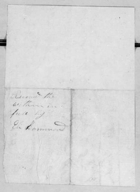 Severn & Leven Donelson to Andrew Jackson, February 1, 1812