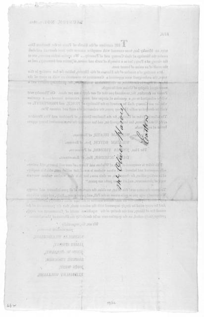Taunton, Nov. 7, 1812. Sir. The exertions of the friends of Peace in the Southern District, on Monday last, were crowned with complete success: they have deserved and shall receive the blessings of their Country and of posterity We rejoice in th