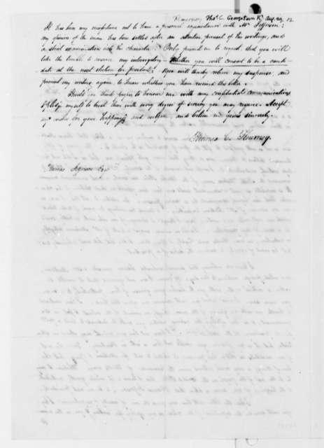 Thomas C. Flournoy to Thomas Jefferson, August 29, 1812