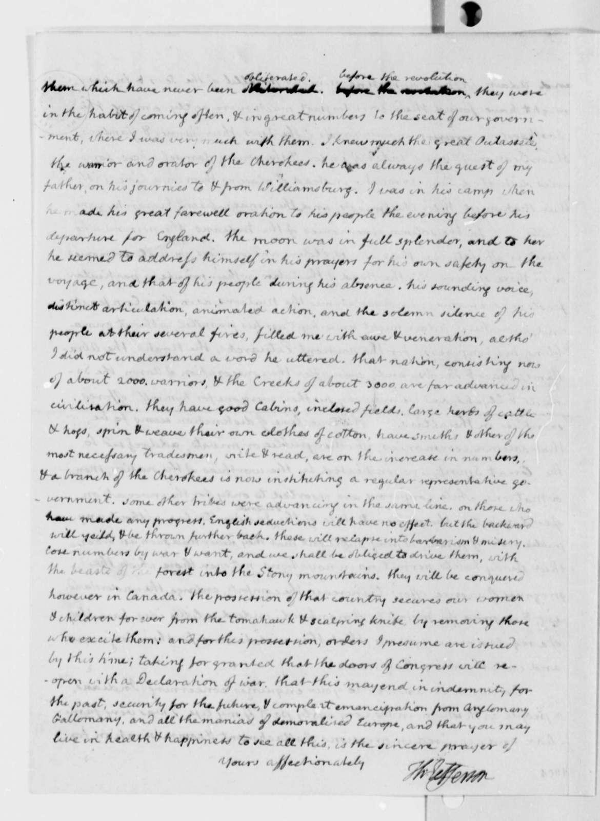 Thomas Jefferson to John Adams, June 12, 1812