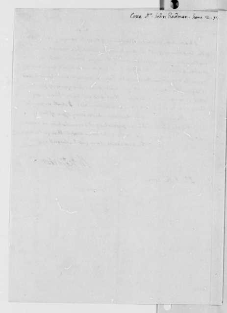 Thomas Jefferson to John Redman Coxe, June 2, 1812