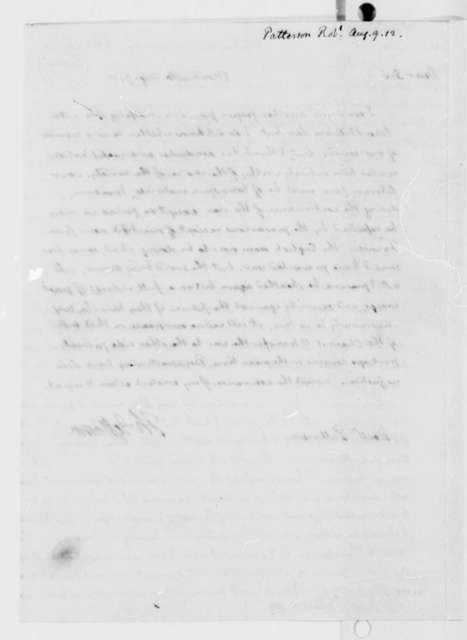 Thomas Jefferson to Robert Patterson, August 9, 1812