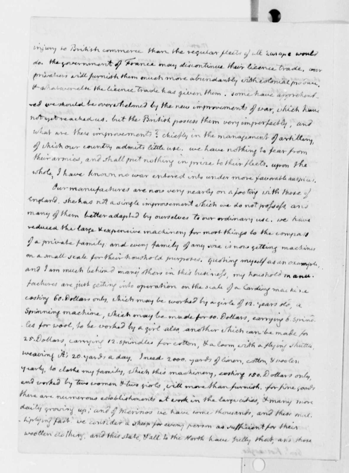 Thomas Jefferson to Thaddeus Kosciuszko, June 28, 1812