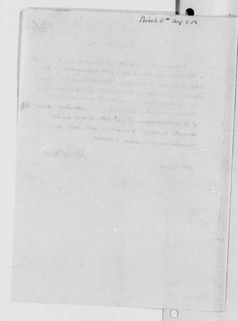 Thomas Jefferson to William Birch, August 3, 1812