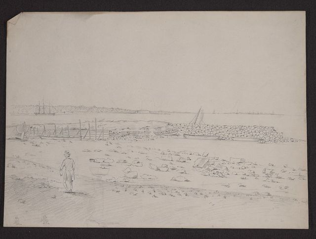 [View of Charleston, South Carolina, possibly looking north toward Sullivan's Island]