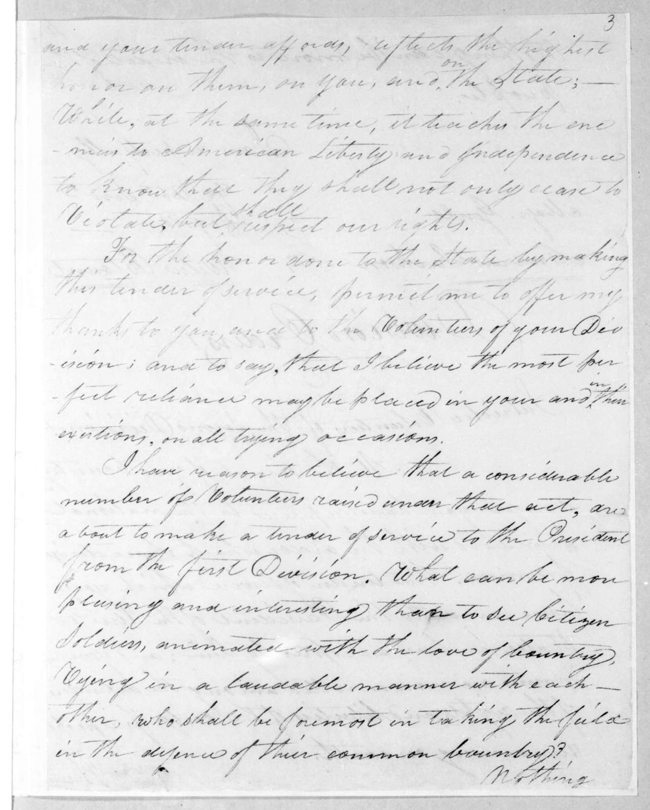 William Eustis to Willie Blount, July 11, 1812